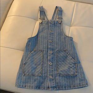 Zara Jumper Jean Dress Size 7